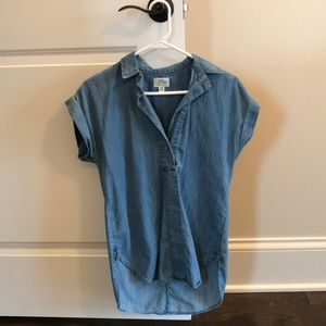 J crew chambray women's shirt